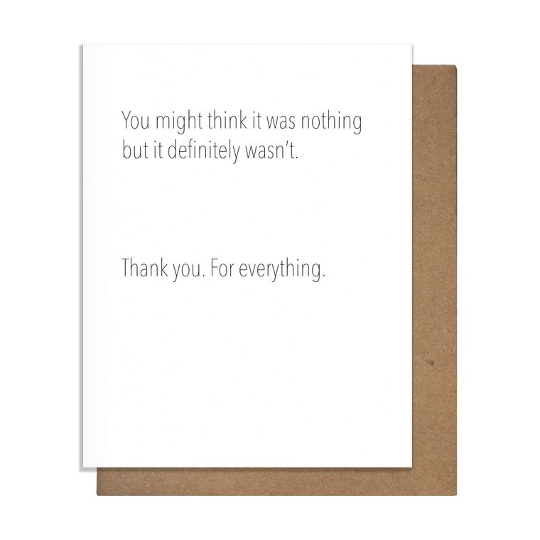 Not Nothing Thank You Card