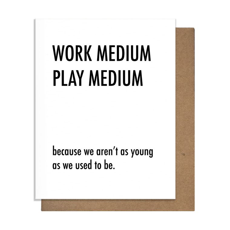 Work Medium Greeting Card