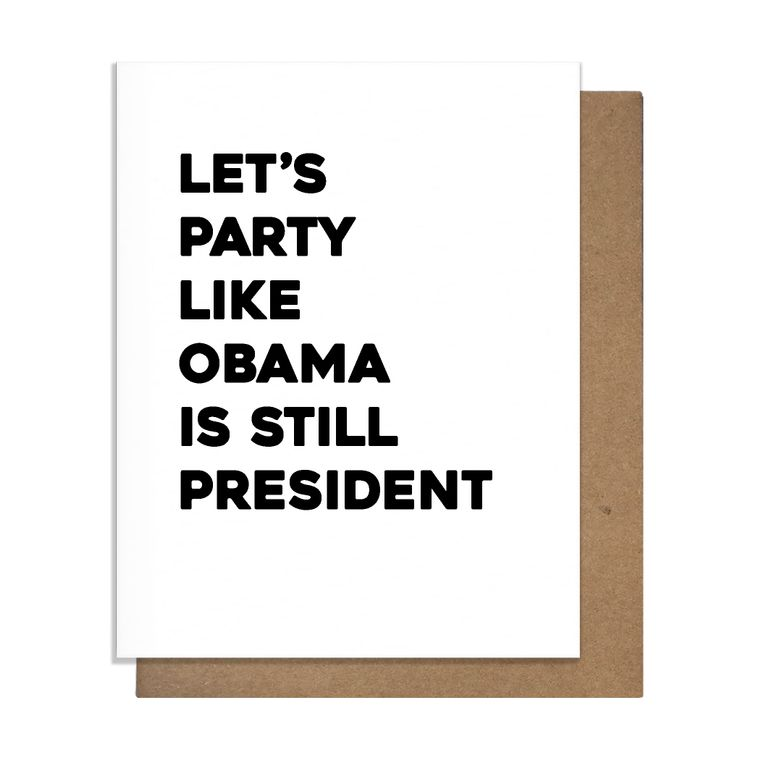 Obama Party Greeting Card