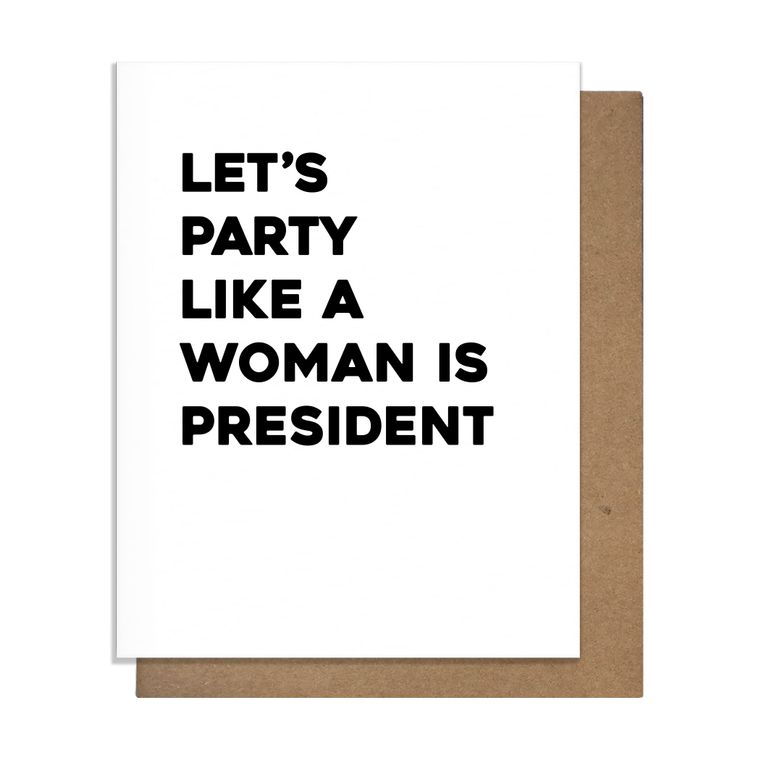 Woman President Greeting Card