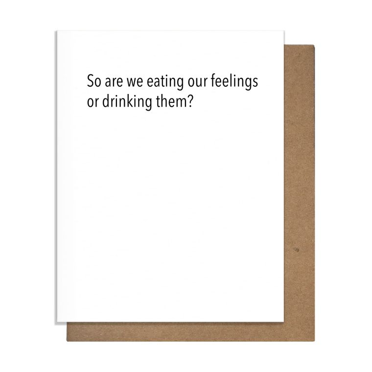 Eating Feelings Greeting Card