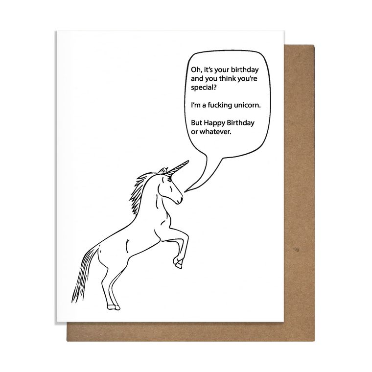 Bday Unicorn Birthday Card