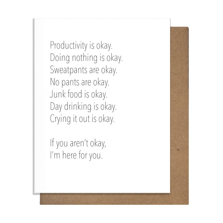 Quarantine Okay Greeting Card