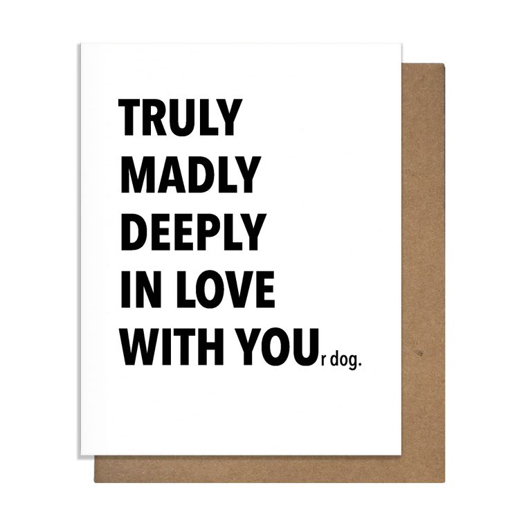 Truly Dog Love Card