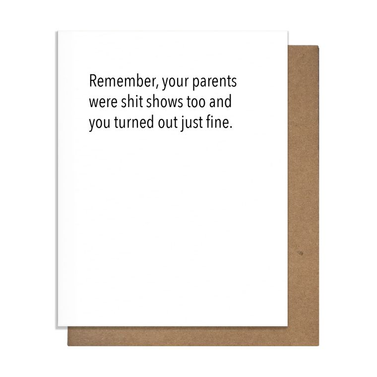 Shit Show Parenting Card