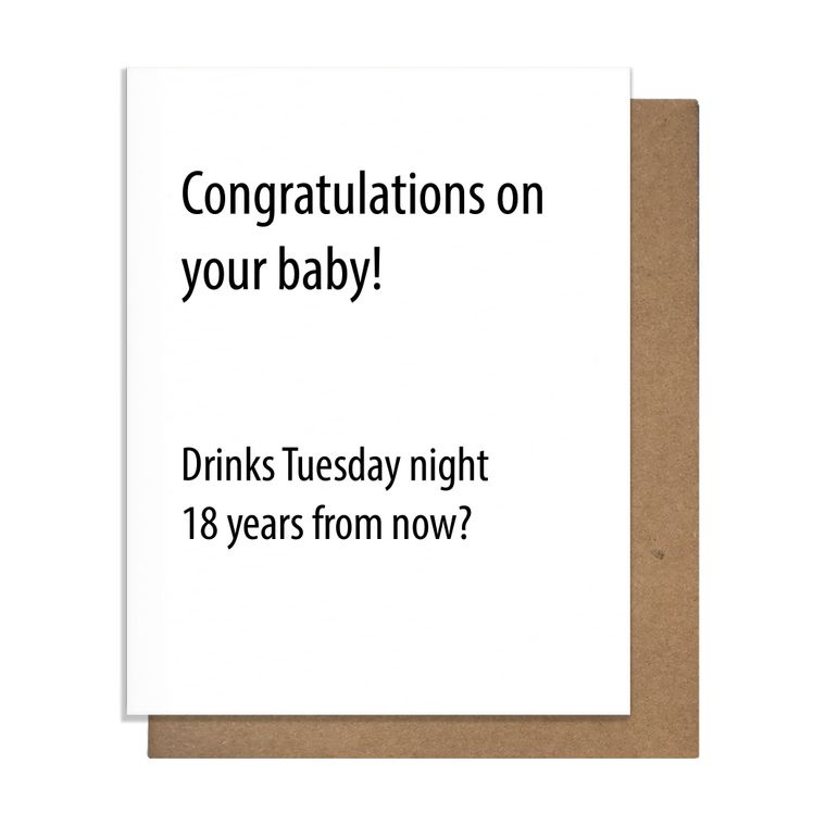 Baby Drinks Greeting Card