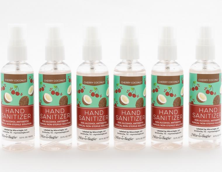Cherry Coconut Scented Hand Sanitizer - 6 Pack (100 mL / 3.3 Fl. Oz.)