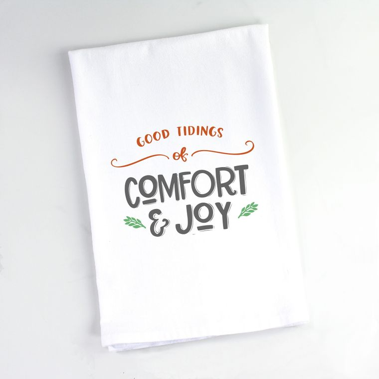 Good Tidings of Comfort & Joy Flour Sack Towel