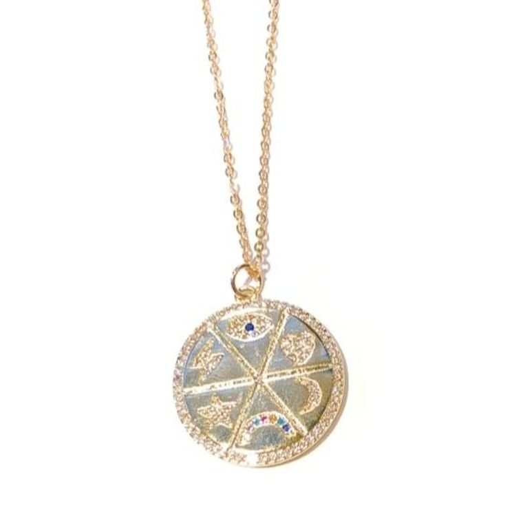 Midlength Free Spirit Necklace-6 Charm Circle