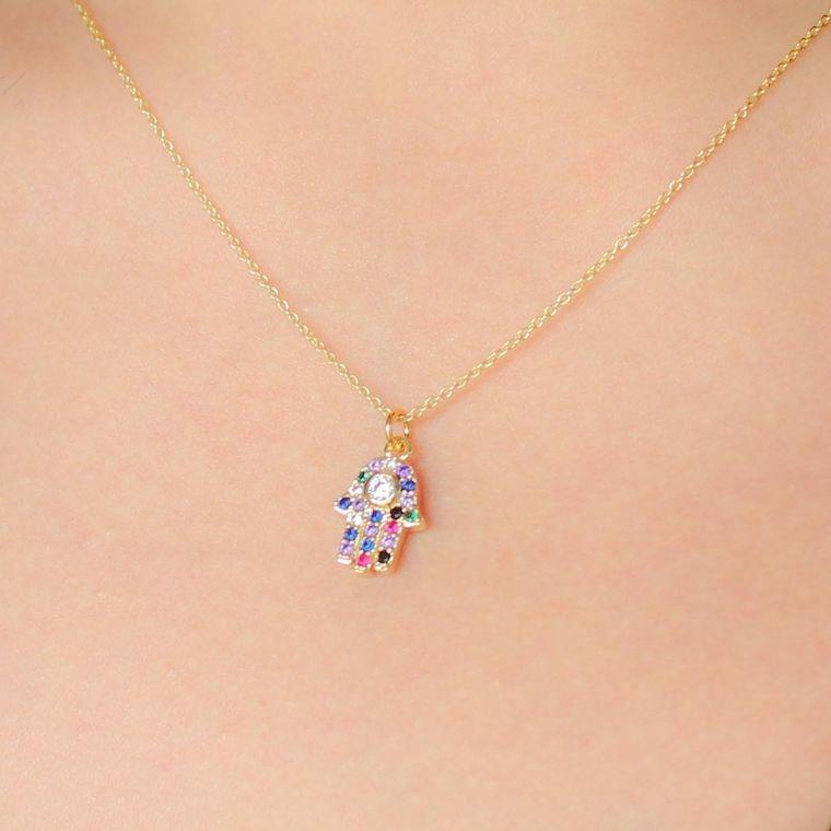 Indie Charm Necklaces-Hamsa