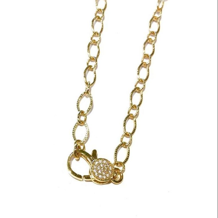 Golden Clasp Necklace-Gold Shimmer
