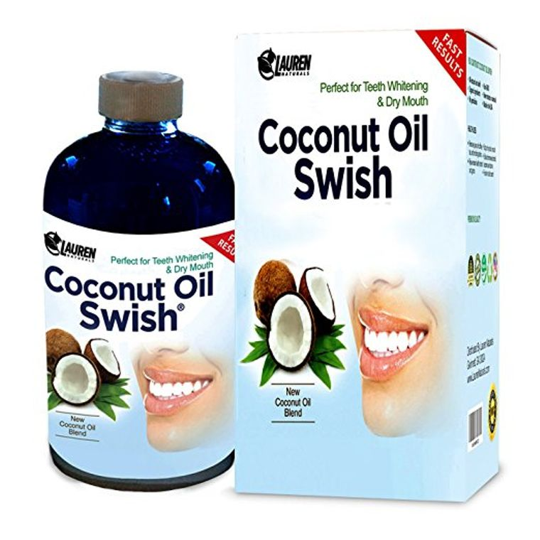 Coconut Oil Swish: Coconut Oil Pulling and Mouthwash for Teeth Whitening & Oral Detox - 8 oz