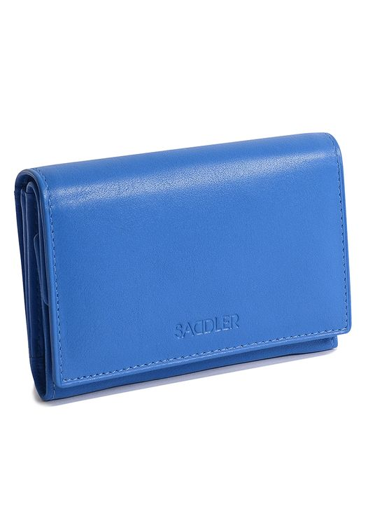 SADDLER Womens Real Leather Medium Double Flap Coin Purse Trifold Wallet Section