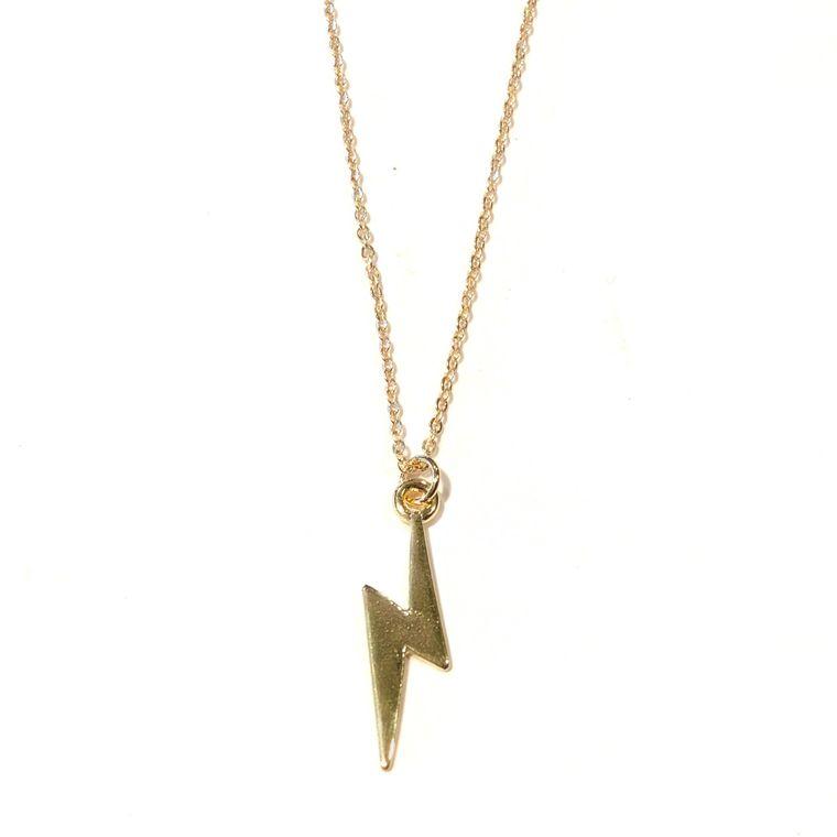 Midlength Lightning Bolt Necklace