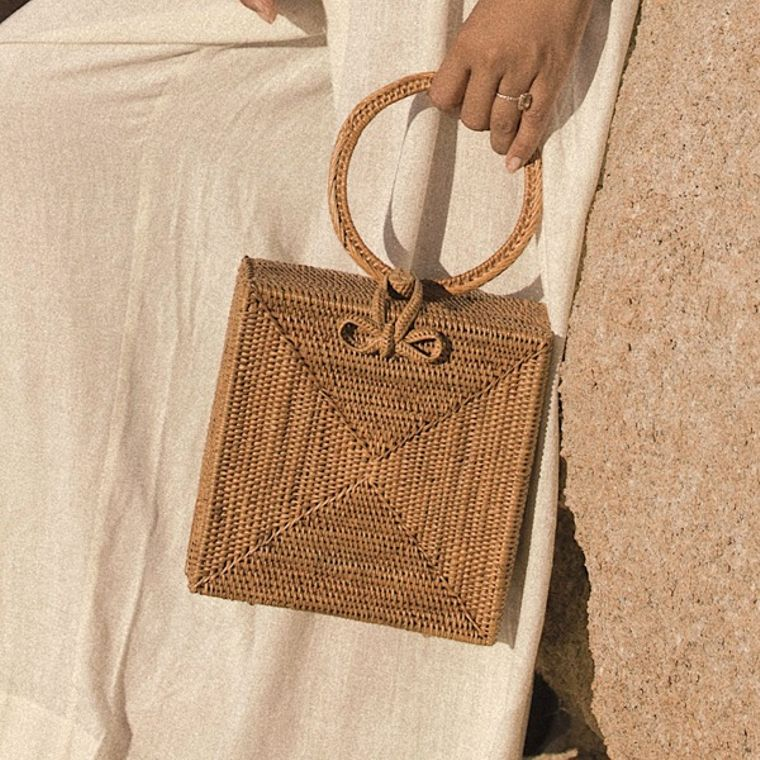 Atta Malika Straw Bag - Top Handle Rattan Bag (1-3 days)