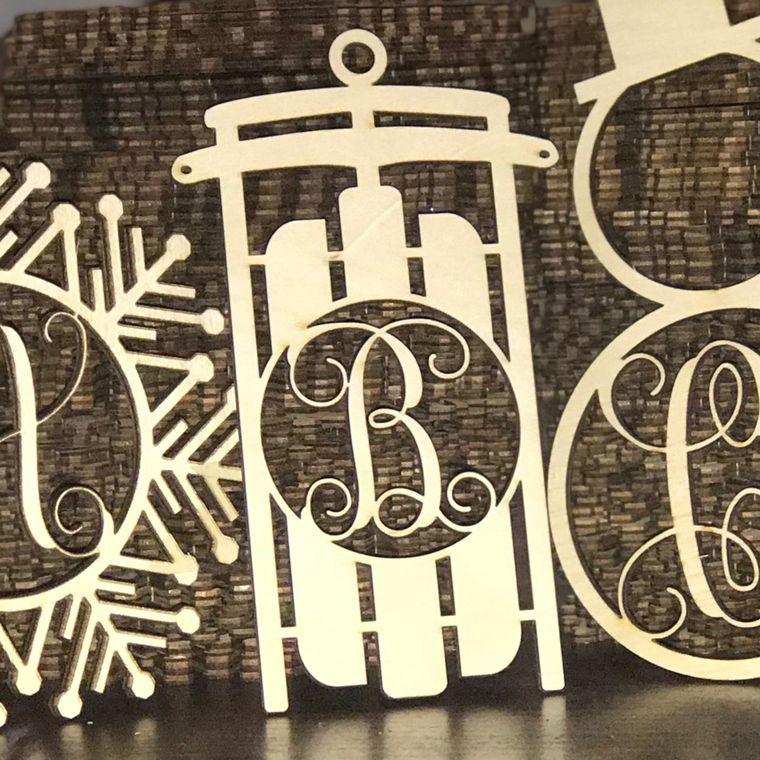 Wood Ornaments- Bulk Pack- Sled Design