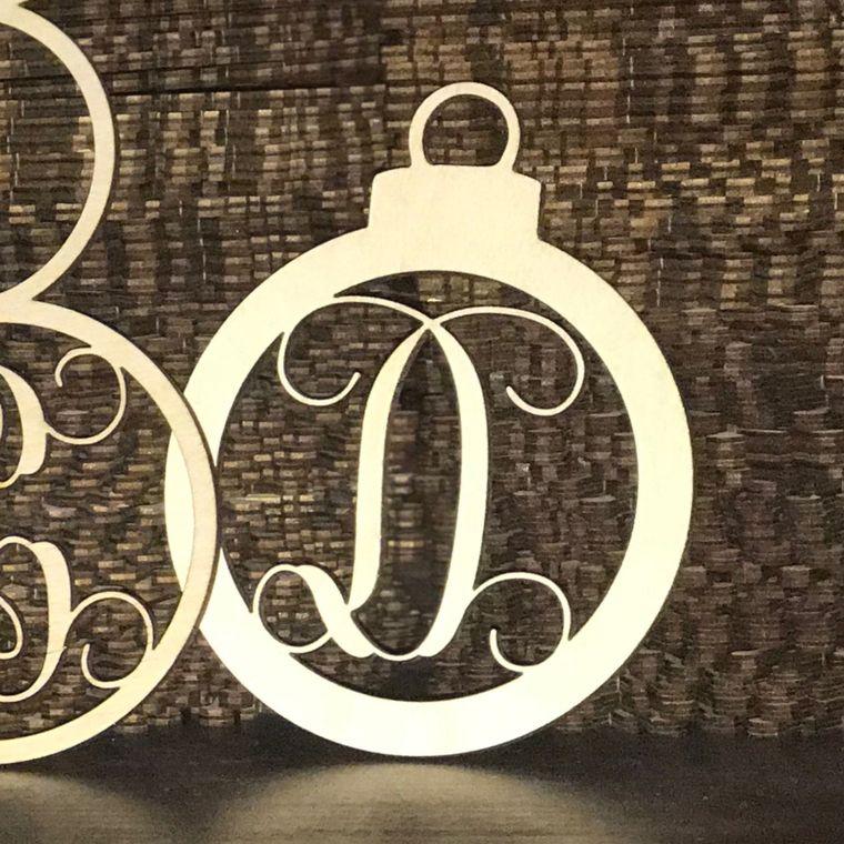 Wood Ornaments- Bulk Pack- Christmas Ball Design