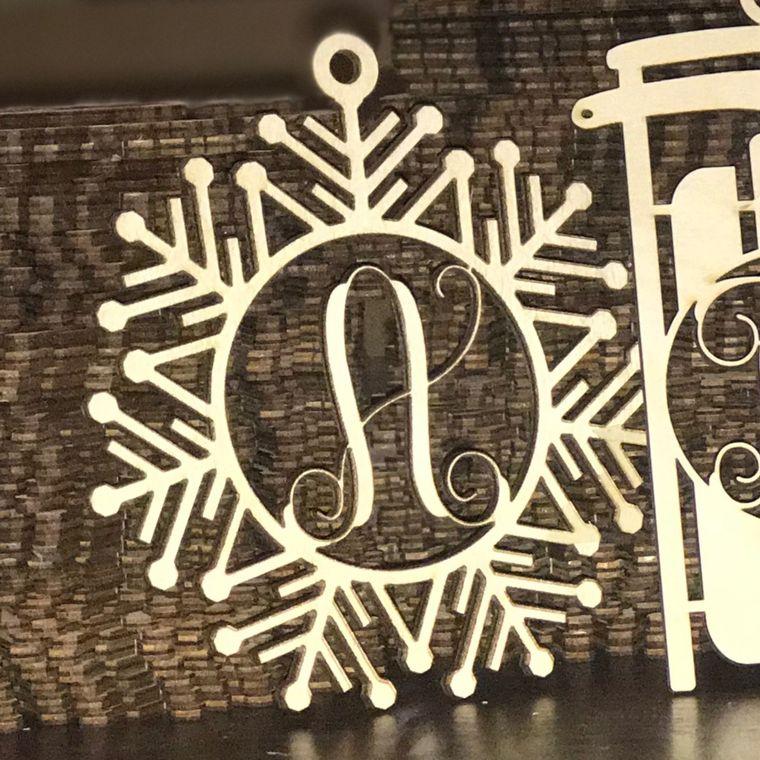 Wood Ornaments- Bulk Pack- Snowflake Design