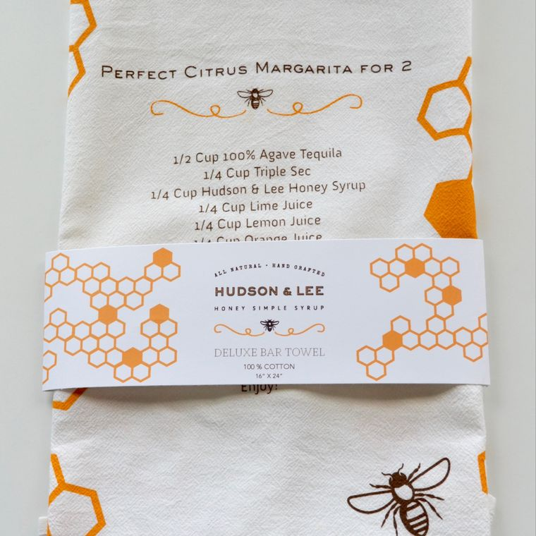 Hudson & Lee Tea Towel with Recipe Print