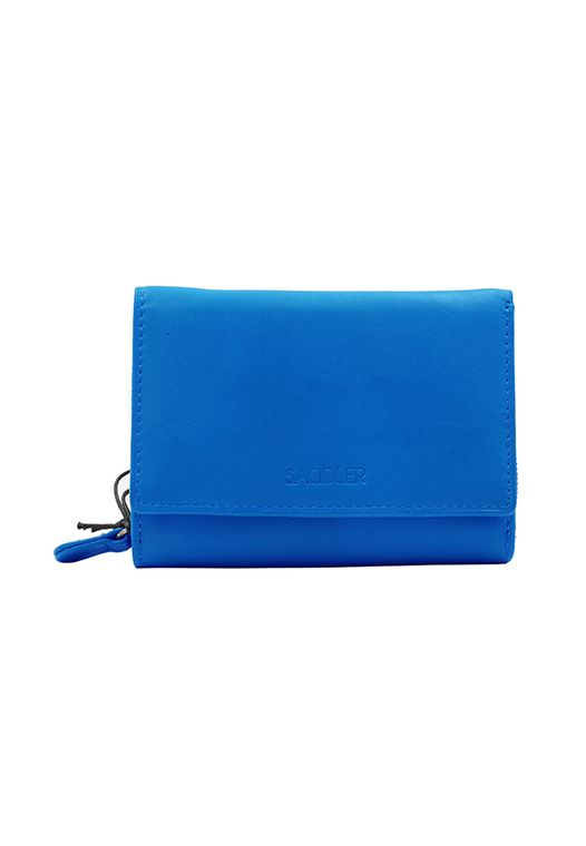 SADDLER Womens Real Leather Medium Trifold Wallet with Zipper Coin Purse