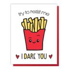Funny Fries Letterpress Love Card