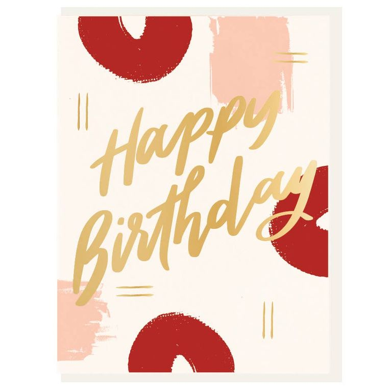 Birthday Paint - Letterpress + Foil Card