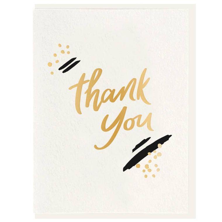 Thank You Paint - Letterpress + Foil Card