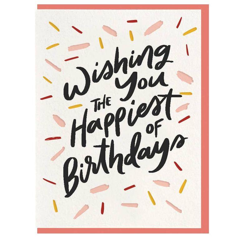 Happiest Birthday - Letterpress Card
