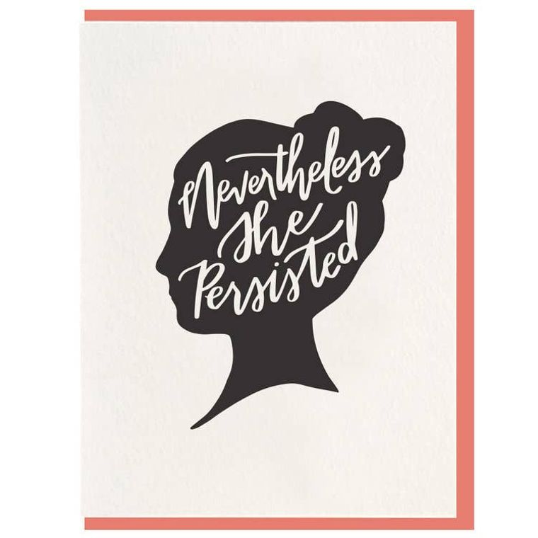 She Persisted - Letterpress Card