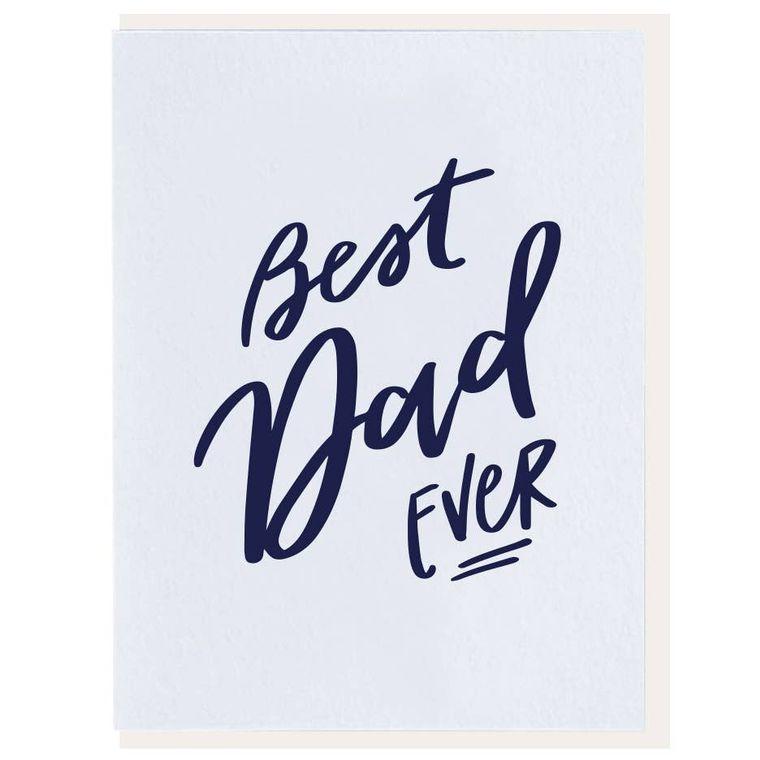 Best Dad Ever - Letterpress Card