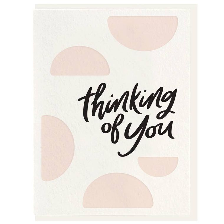 Thinking of You - Letterpress Card