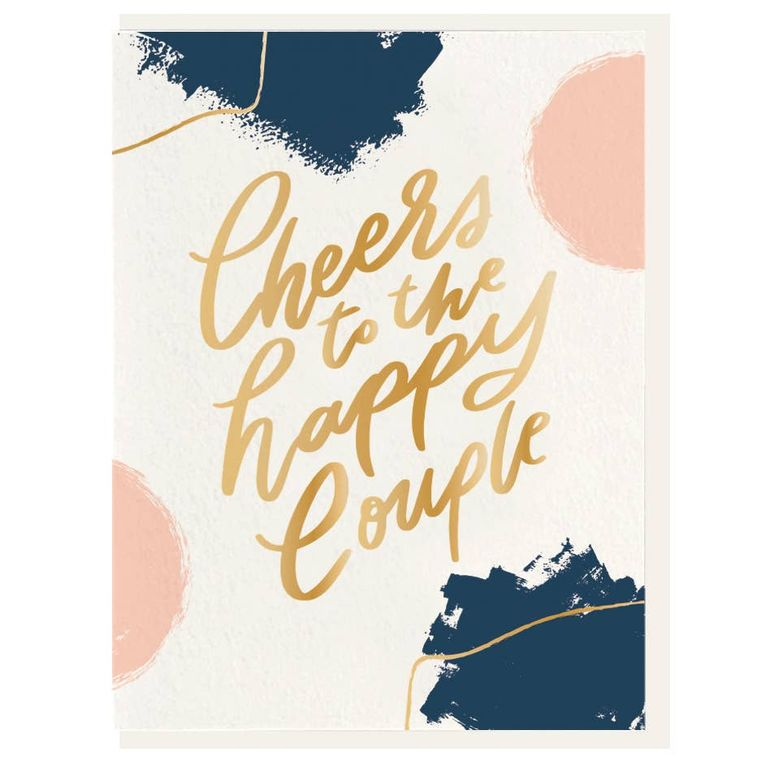 Cheers - Letterpress + Foil Card