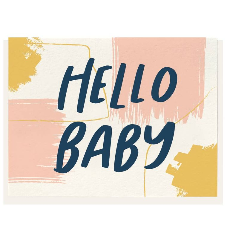 Hello Baby - Letterpress Card