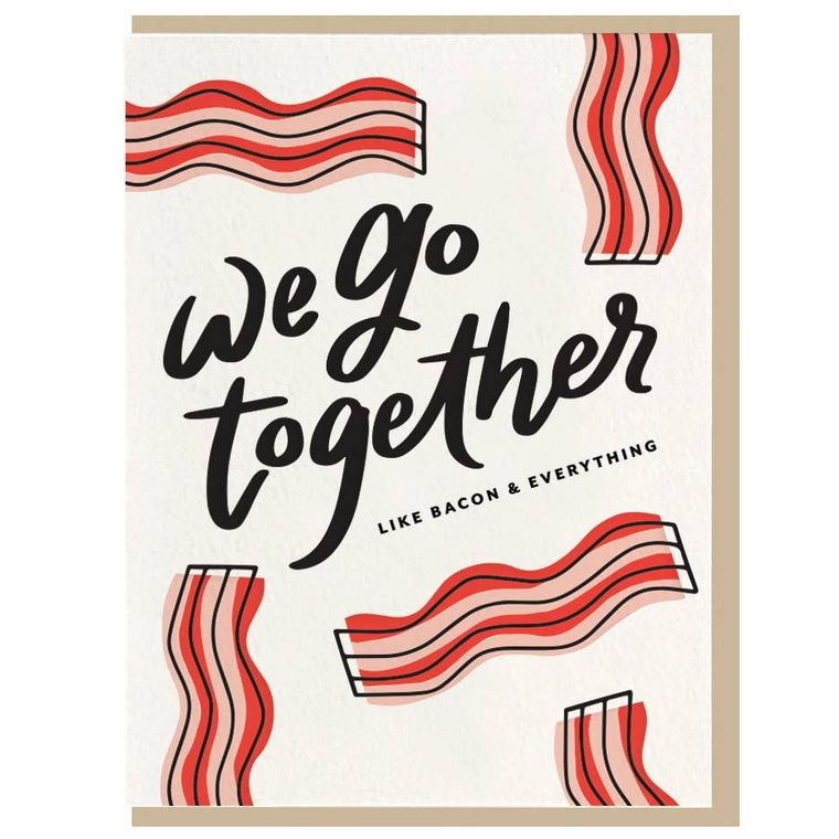 Bacon - Letterpress Card