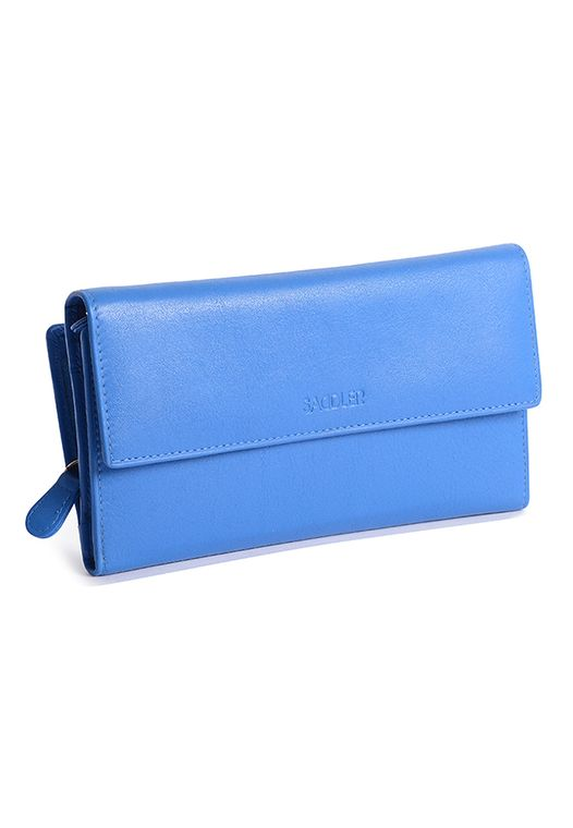 SADDLER Womens Real Leather Large Oversize Trifold Wallet with Zipper Coin Purse