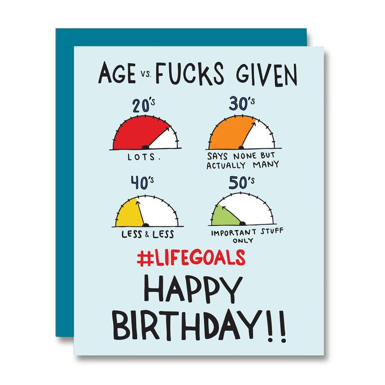 #LifeGoals Birthday, Card