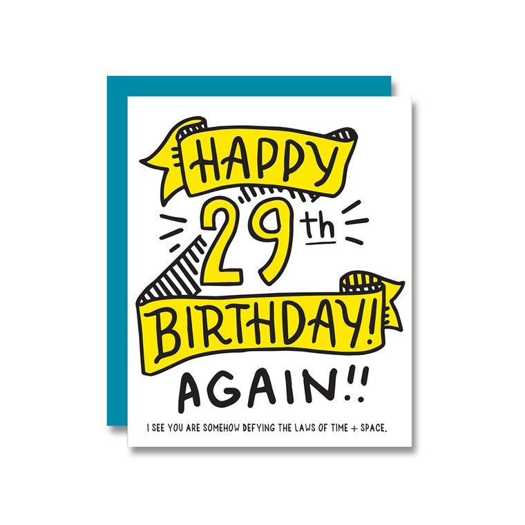 Happy 29th Birthday Again, Card