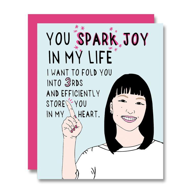 Sparking Joy with Marie Kondo, Card