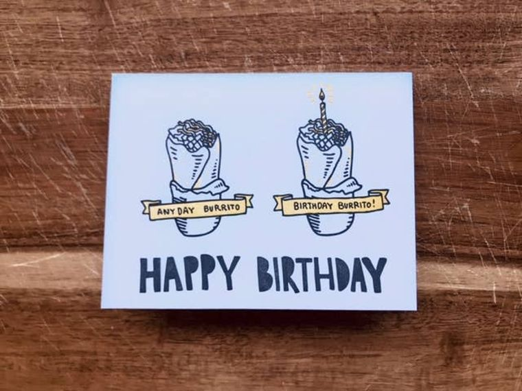 Burrito Birthday, Card
