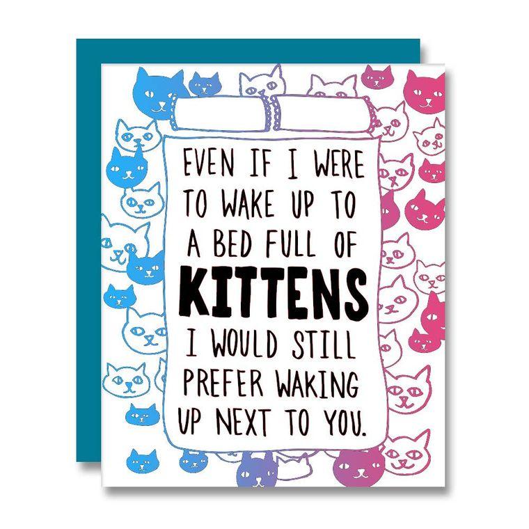 Kitten Bed, Card