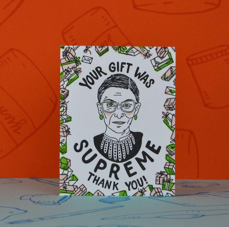 RBG Supreme Gift, Thank You Card