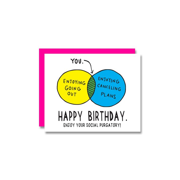 Venn Diagram Birthday, Card
