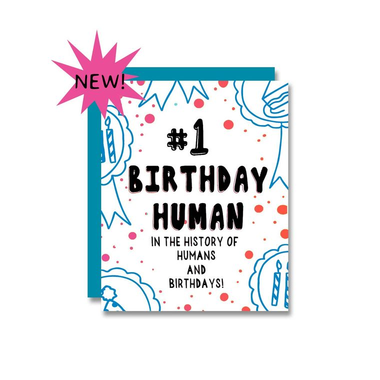 #1 Birthday Human, Card