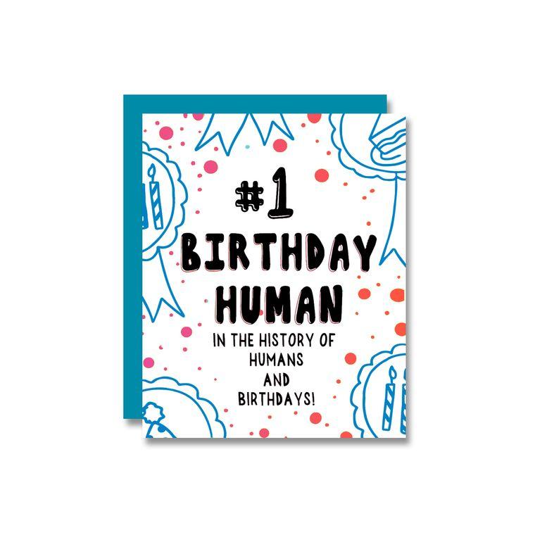#1 Birthday Human, Card
