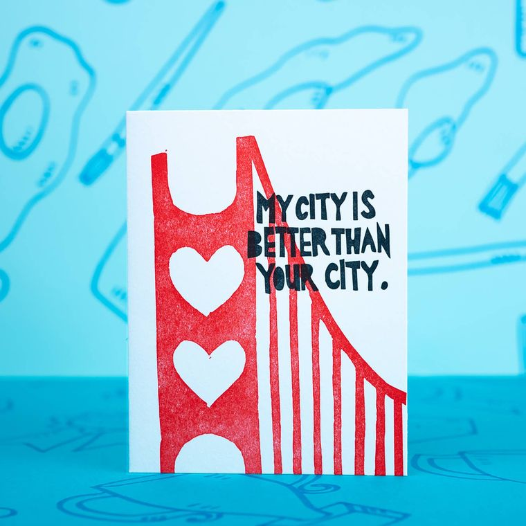 SF Is Better, Card