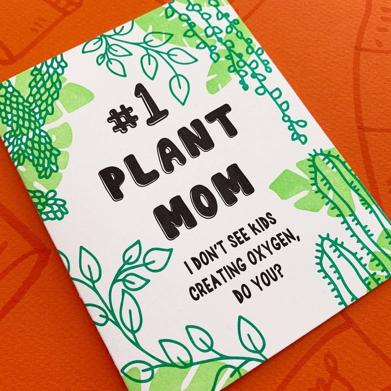 #1 Plant Mom, Mother's Day Card
