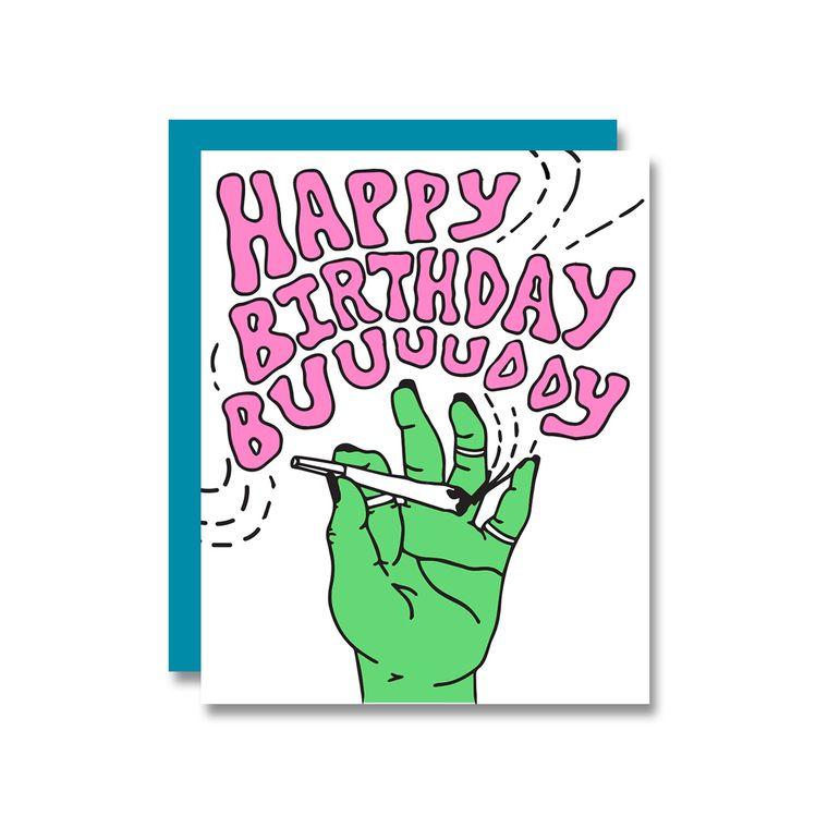 Birthday Bud, Card