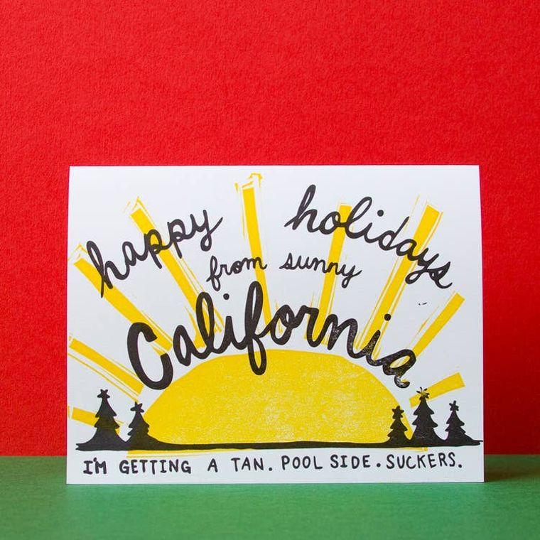 California Holiday, Card
