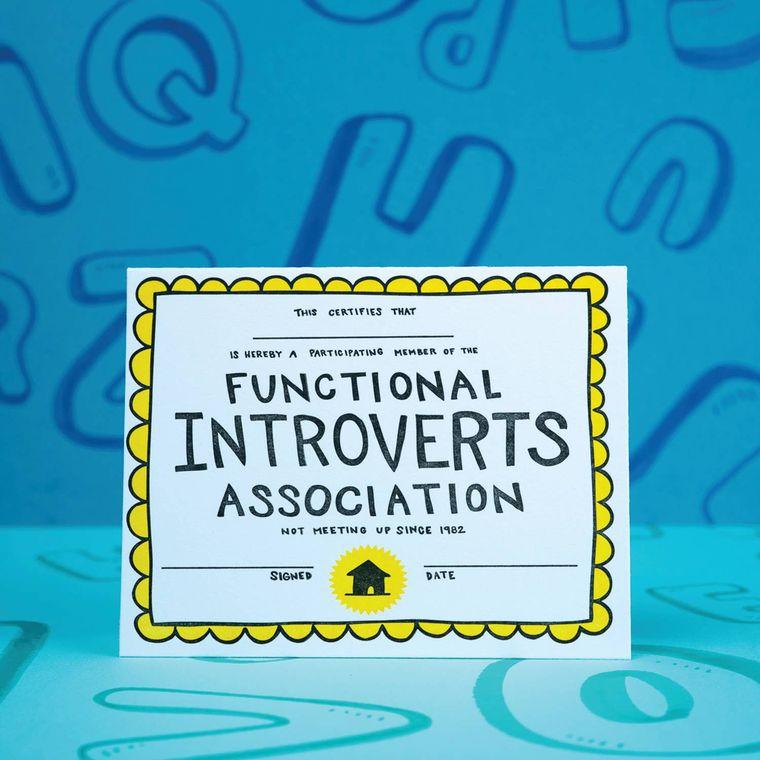 Introvert Certificate, Card
