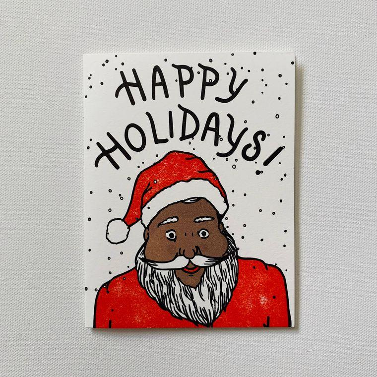 Jolly Santa, Holiday Card
